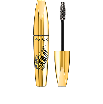 This eye opening mascara Big & Beautiful BOOM! Killer Black Volume Mascara is packaged in a metallic gold pack with stylish black graphics. Unscrew the lid to reveal the black brush inside to stay chic! Like the rest of Astor's Big & Beautiful range, the pack is satisfyingly big and curvaceous to hold – you can't miss it.