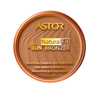 This round shaped tanned-skin color with a yellow Astor color is a true invitation to travel to sunny places without moving from home! get your Natural Fit Sun Bronzer now !